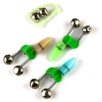 Free shipping !!! 10 pcs  LED light ( or Noctilucent ) with 2 bells Fishing Bite Alarm