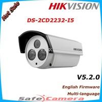 HIKVISION DS-2CD2232-I5 3MP EXIR Bullet Network Camera, V5.2.0 English Version, 50 meters IR range, Support POE