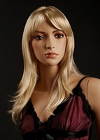Free shipping 2014 new arrival 24'' Straight  long Blond Women's Wig