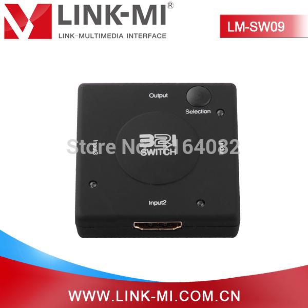 LINK-MI LM-SW09 Mini Black High Quality HDMI 1.3 3*1 HDMI Switcher(China (Mainland))