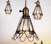 Loft vintage small hoaxed pendant light including ST64 Edison bulb free shipping
