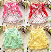 2014 Hello kitty Baby Kids dress Christmas snowflake dress Girl Princess Dress Clothes Autumn Leopard girls dresses Kt dot plaid
