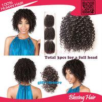 7A brazilian virgin hair water wave/ funmi hair 3pcs lot natural black hair cheap human bundles wet and wavy brazilian hair weft