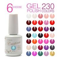 New 6pcs Crisnail UV Gel Nail Polish 201Colors 15ml 0.5oz (You Choose 6 Colors) Free Shipping