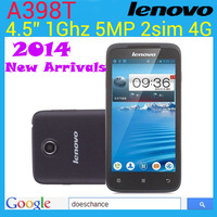 2014 New Arrivals A398T Original Lenovo A398T cell phone 4.5 inch IPS 2 core  2 SIM Android 4.0 WIFI 5.0MP camera  mobile