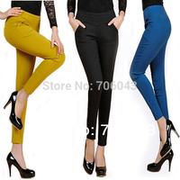 Elasticity Women Pencil Pants 2014 Fashion Women Slimming  Leggings Casual  Pants & Capris Plus Size L-XXXL   Wholesale Free