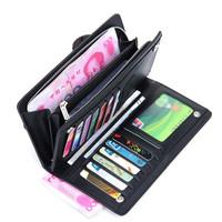 Genuine leather wallet male long design wallet clutch men wallets cowhide big capacity card holder