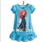 2014 Hot girl print dress Summer nightgown Princess Cartoon kids pajamas nightdress for girls sleepwear,girl nightgown