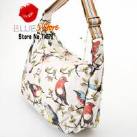 FREE SHIPPING classic garden birds cath everday bag fashion floral cross body bag cotton college bag fashion women shoulder bag