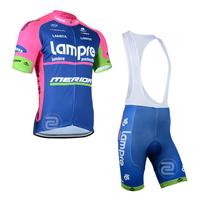 Cycling jersey lampre 2014 Cycling Wear Short jersey BIB Shorts Bicycle Bike Jersey Cycling Cycle Clothing