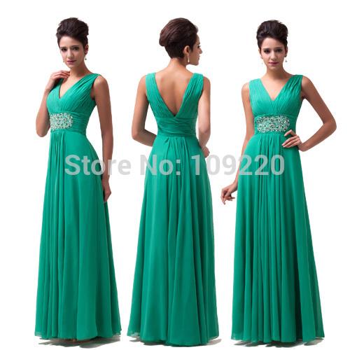 Vestidos De Baño Verde Menta:verde menta gasa vestido de noche largo Formal baile vestido de