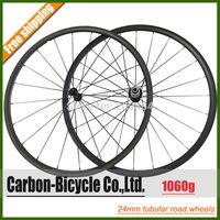 Only 1080g powerful 24mm tubular carbon bike wheelset ultra light 700C carbon fiber road bike wheels