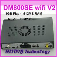 2014 Best Model DM800SE V2 wifi Satellite tv Receiver 1GB Flash 521MB RAM DM800hd se sim2.20 REV.E Motherbaord DHL Free Shipping