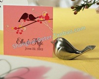 Free Shipping 100pcs Love Bird Place Card Holders wedding bomboniere WJ082