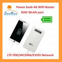Free shipping  Unlock pocket Wifi Wireless WCDMA  3G Router wIth SIM Slot Hotspot 10000mAh  power bank functions