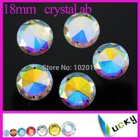 2014 New! Freeshipping 54pcs 18mm 1071#Flat back sew on Rhinestones Round shape strass crystal beads for wedding dress