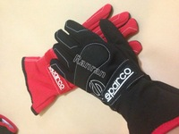 2014 New Sparco gloves All Size Professional car sparco racing gloves 3 colour(Red/Blue/Black)