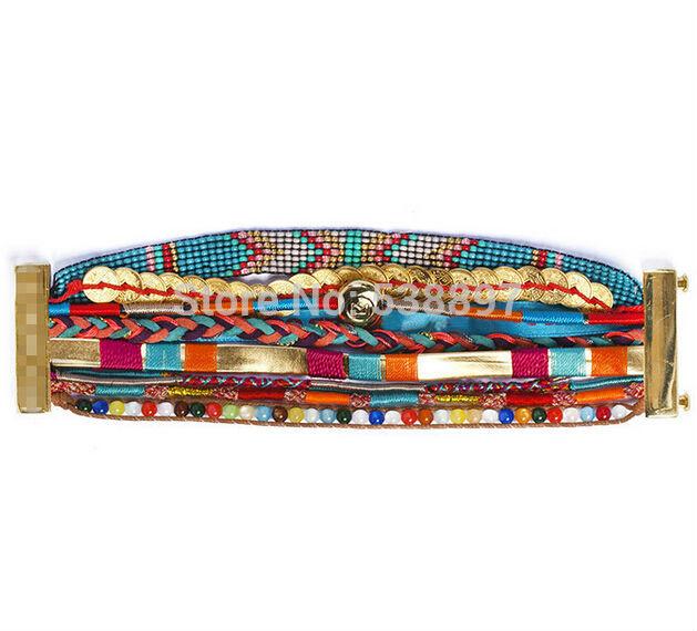 Wholesale Summer 2014 HIPanem bracelet Handmade bohemian Bracelets France Brand gem-stone Jewelry Bracelet Free shipping hp64(China (Mainland))