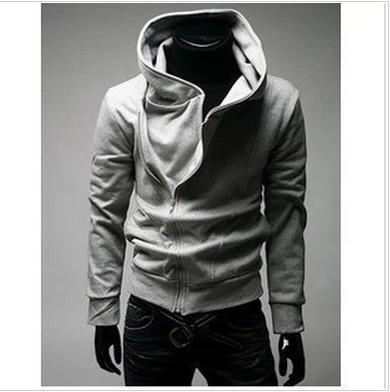 Vendita calda, 2014 nuovo degli uomini zip oblique felpa con cappuccio felpa con cappuccio, maglione di cotone degli uomini, uomo moleton, felpe con cappuccio moda coreano per il tempo libero, taglia m- xxxl