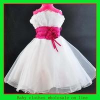Dress hot summer girl baby girl wedding dress white christening dress children party dress birthday costum kids clothes