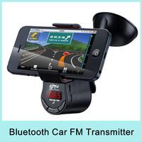 New Arrival LED Display Multi-functional Phone Holder Car FM transmitter Tunebase 360 Degree Rotation Music On The Go 2014 NEW