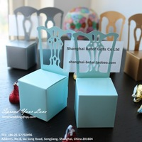 Free Shipping 408pcs skyblue Miniature Chair Favor Box and event place card BETER-TH005-C0