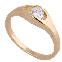 New style 18k gold plated & 18k white gold plated hollow with round white zircon rings for women wholesale YILIA