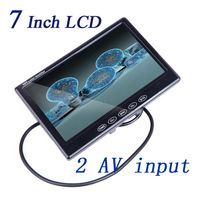 "7"" TFT LCD  Rearview  Car Monitor for VCD DVD GPS Camera Dashboard Two Way Input ABS Housing Material Adjustable Screen Ratio"