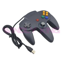 Black Wired USB Game Controller Look Like for N64 for PC