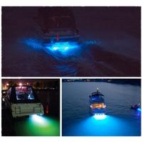 """LED BOAT DRAIN PLUG LIGHT *9 WATT LED * Underwater Brass coating chrome Garboard 1/2"""" NPT blue color led marine light"""