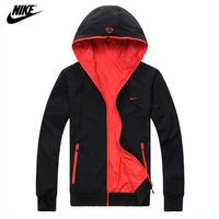 2014 latest! NIKE Sided Men's Jacket Casual Stylish Slim Fit Zip Coat Men classic casual jackets Sports Jacket Free shipping!