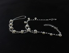 sexy rhinestone barefoot sandals foot bracelet beach foot jewelry with pearl cross beads anklets for women