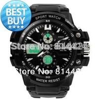 Free shipping New Arrival  Men's sports wateproof Wristwatches Fashion electronic digital sports quartz analog watch