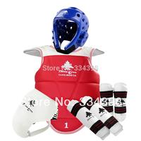 SANGMOOSA Pinetree High Quality Original Genuine Taekwondo protective gear Five-piece -WTF Certification