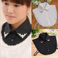 2014 new sring autumn fashion Elegant handmade gentlewomen metal false half shirt collar for women sweater decorative