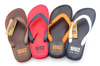 Updated version 2014 fashion Beckham male slippers men's famous brand flip flops candy color casual beach sandals 00281