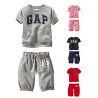 New 2014 summer autumn baby & kids clothing set girls boys Brand casual clothing sets children t shirts+ pants