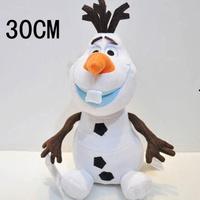 Hot Sell Cartoon Movie Toy Lovely Olaf the Snowman Plush Doll Stuffed 30cm Cotton Olaf Toys High Quality