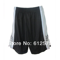 Free Shipping Spurs  Black Basketball jersey  cropped trousers  casual shorts beach shorts  Basketball shorts