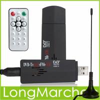 ROHS Digital USB 2.0 Mini TV Stick FM+DAB DVB-T RTL2832U + R820T Support SDR Tuner Receiver