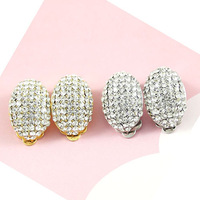 sparkle silver clear bridal clip on  earrings BA-255 2014 Beauty paradise@Rihood Trading Neoglory full crystals