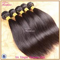 "Peruvian Virgin Hair Straight 6pc free shipping 8""-30"" Peruvian Human Hair Extensions peruvian straight hair on Sale Realove"