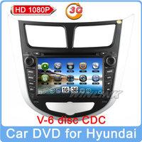 Free shipping HD 1080P car multimedia dvd player for Hyundai i25 Solaris Verna Accent GPS BT navigation stereo dvd front camera