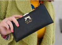 2014 newest hot women leather handbags women wallets fashion ladies leather wallet women clutch,women wallets bowknot purse