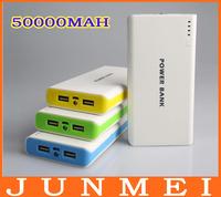 30pcs/lot new design 50000mAh USB Port Portable Charger Mobile Power Bank Indicator Light For Iphone/Samsung/HUAWEI/Nokia