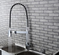 2014 Hot Sale China Single Hole Brass Material Spray Out Head Kitchen Faucet