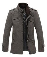 Match Mens Wool Classic High Qaulity Pea Coat Winter Coat Men Jacket