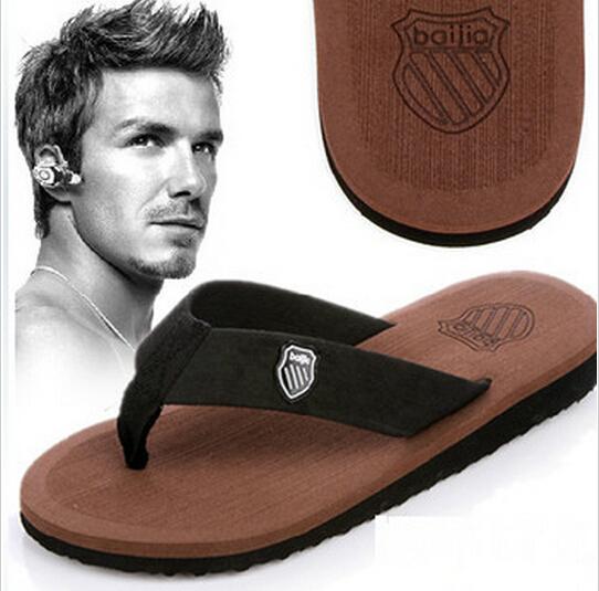 New 2014 Men Sandals,Bakham Leisure Casual Flat Soft Summer Flip Flops,EVA Massage Beach Slipper Shoes For Men Size 40-44(China (Mainland))
