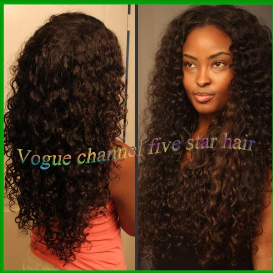 style real brazilian virgin hair natural black color curly human hair