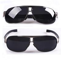 New 2014 Men's Polarized Sunglasses Driving Glasses Brand New Designer Golfing Fishing Sunglasses Gun Grey Frame